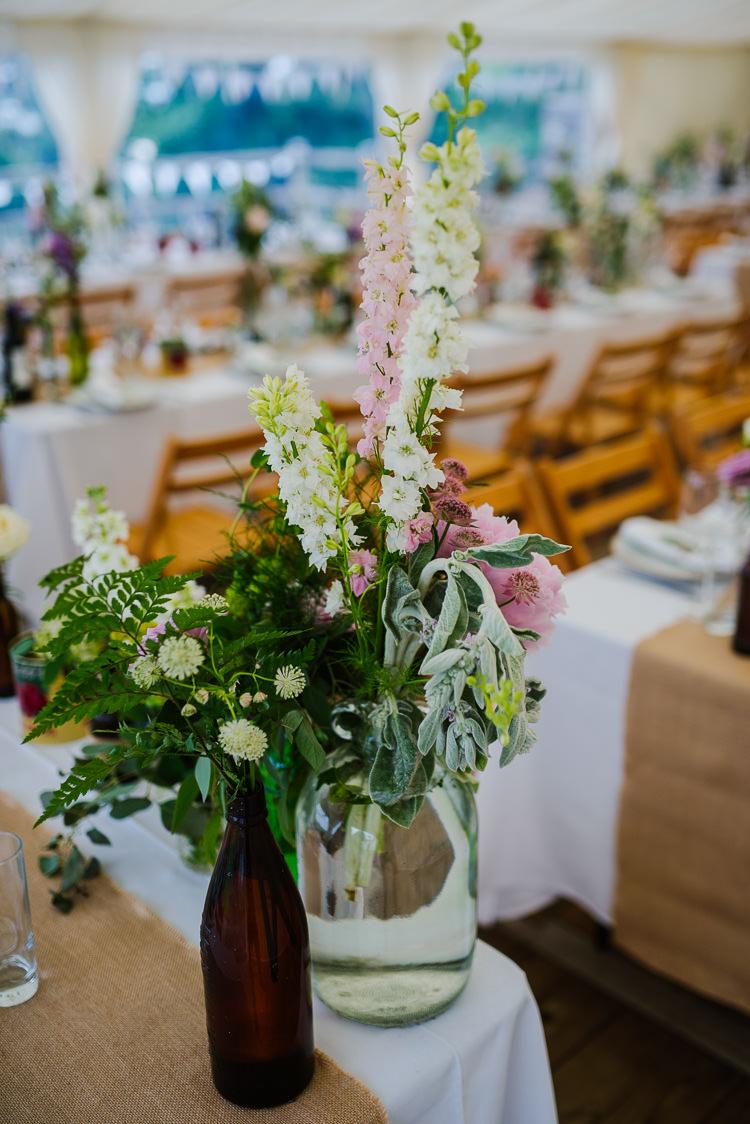 Jar Flowers Tall Pretty Centrepiece Boho Funfair Floral Country Wedding https://www.jonnybarratt.com/