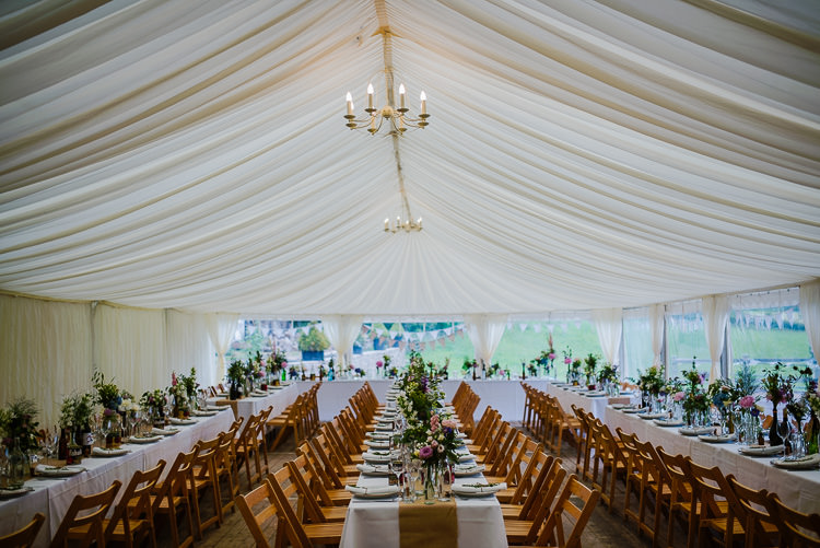 Marquee Long Tables Decor Boho Funfair Floral Country Wedding https://www.jonnybarratt.com/