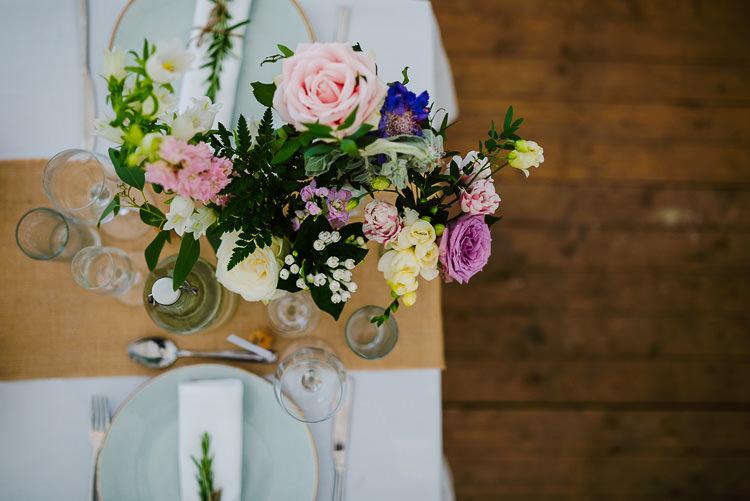 Table Flowers Decor Boho Funfair Floral Country Wedding https://www.jonnybarratt.com/