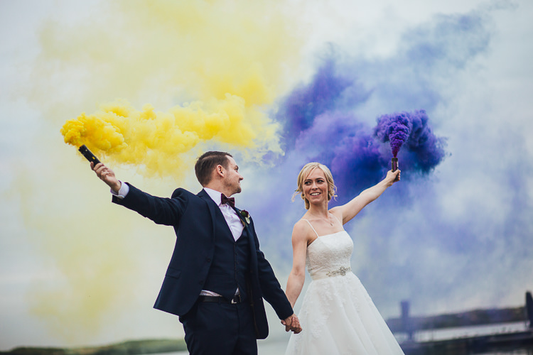 Smoke Bomb Wedding Portraits Images Photographs http://www.struthphotography.com/