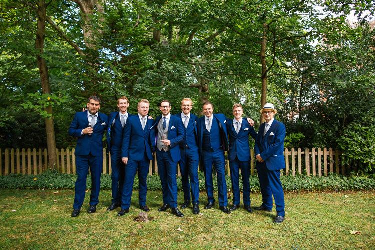 Groom Groomsmen Navy Suits Magical Woodland Glade Tipi Wedding http://johnnydent.co.uk/