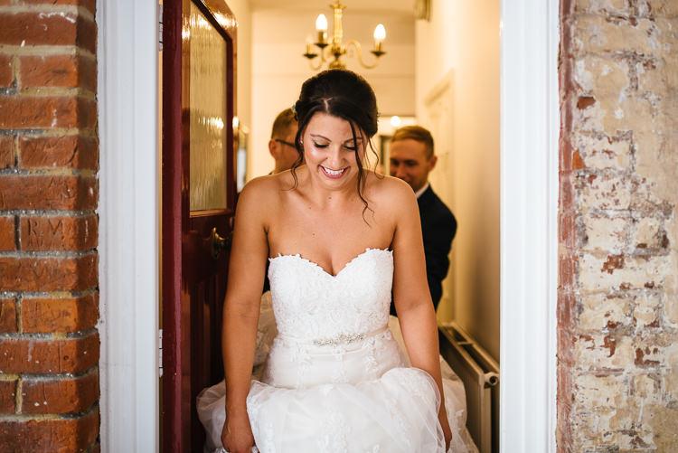 Strapless Lace Dress Gown Bride Bridal Magical Woodland Glade Tipi Wedding http://johnnydent.co.uk/