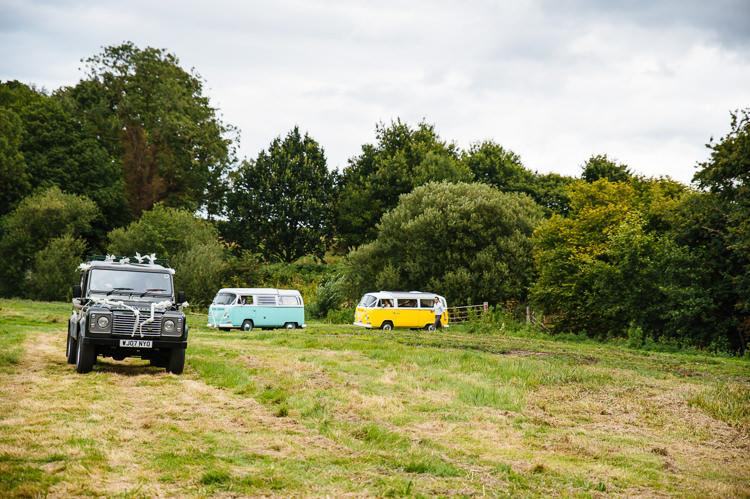Jeep VW Campervans Magical Woodland Glade Tipi Wedding http://johnnydent.co.uk/