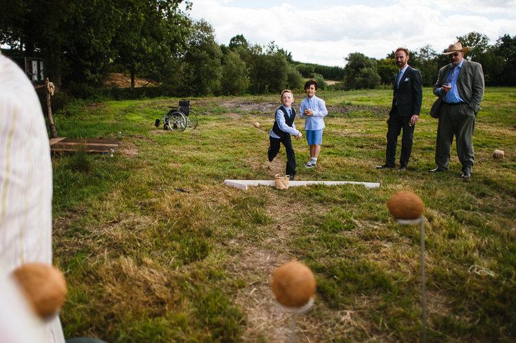 Coconut Shy Games Magical Woodland Glade Tipi Wedding http://johnnydent.co.uk/