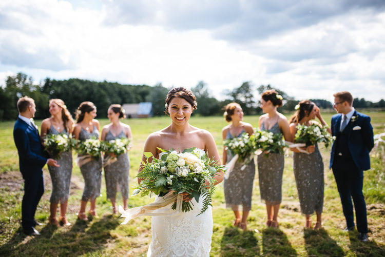 Bride Bridal Bouquet  Greenery Foliage Strapless Dress Magical Woodland Glade Tipi Wedding http://johnnydent.co.uk/