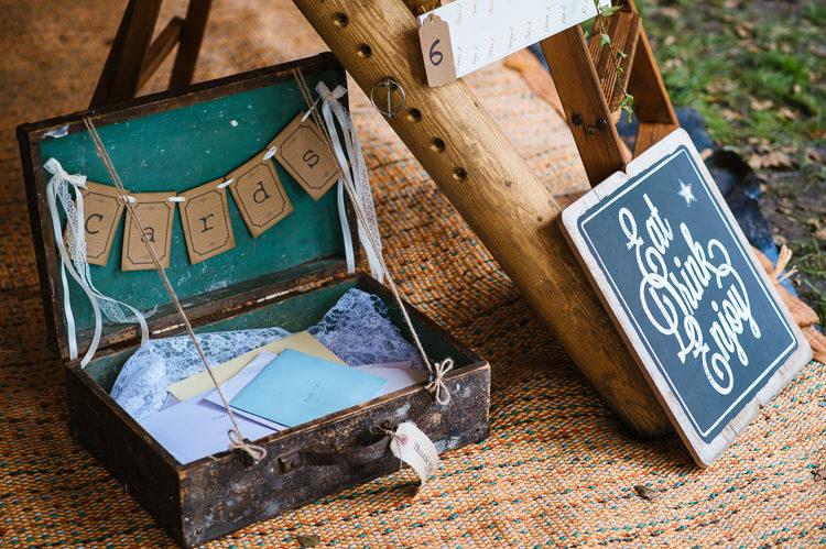 Card Suitcase Magical Woodland Glade Tipi Wedding http://johnnydent.co.uk/