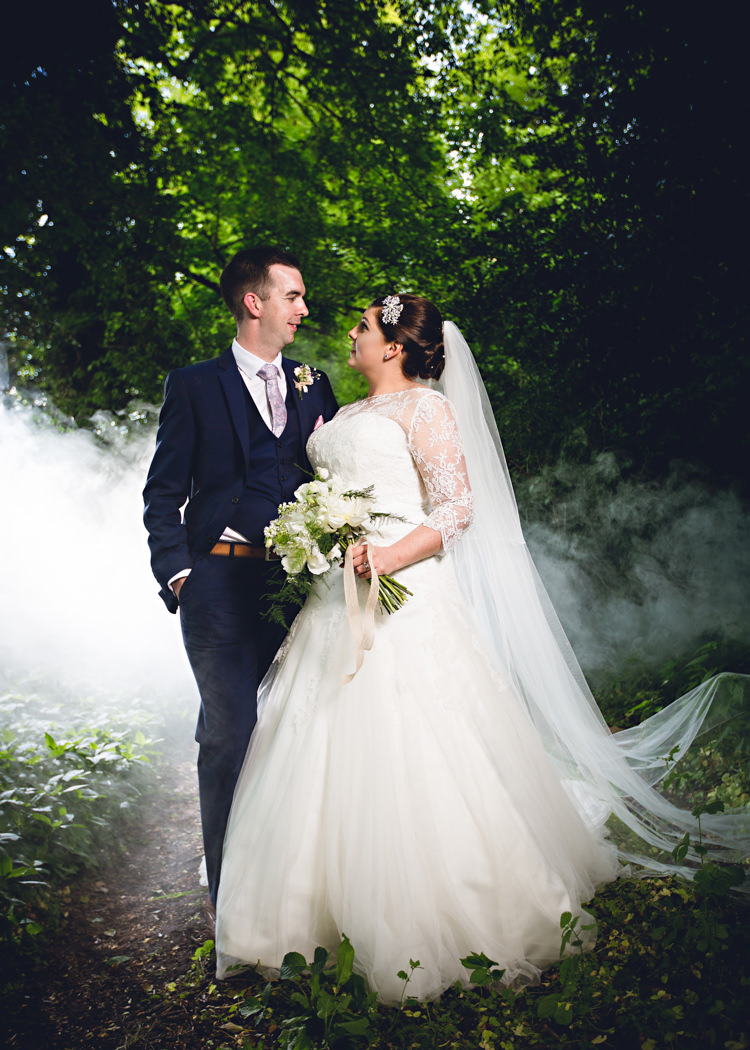 Smoke Bomb Wedding Portraits Images Photographs http://www.hbaphotography.com/