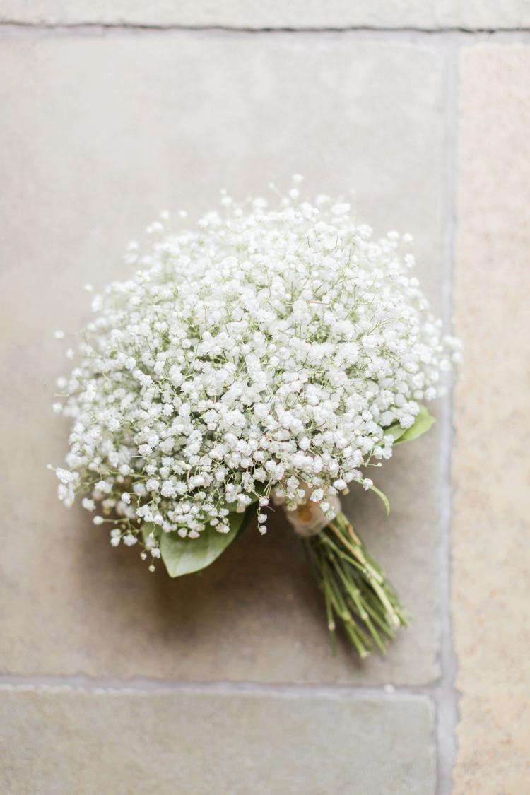 Gyp Gypsophila Bouquets Flowers Simple Elegant Luxe Blush Pink Wedding http://katymelling.com/
