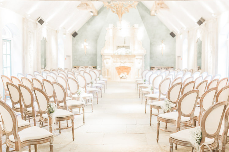 French Antique Chairs Ceremony Simple Elegant Luxe Blush Pink Wedding http://katymelling.com/