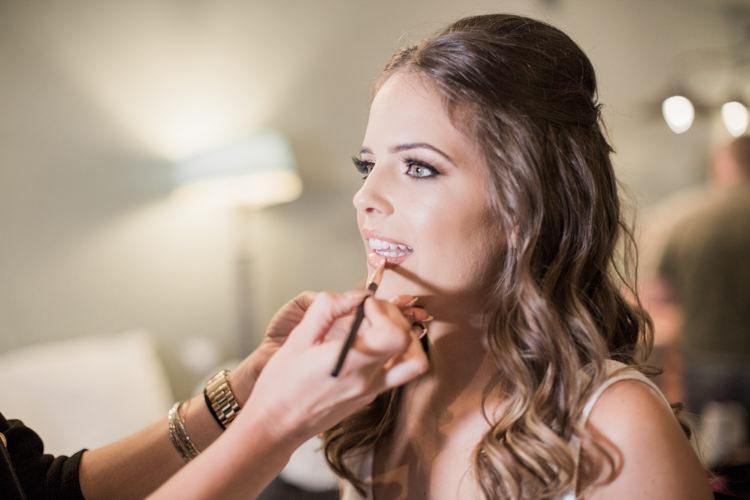 Make Up Bride Bridal Beauty Simple Elegant Luxe Blush Pink Wedding http://katymelling.com/