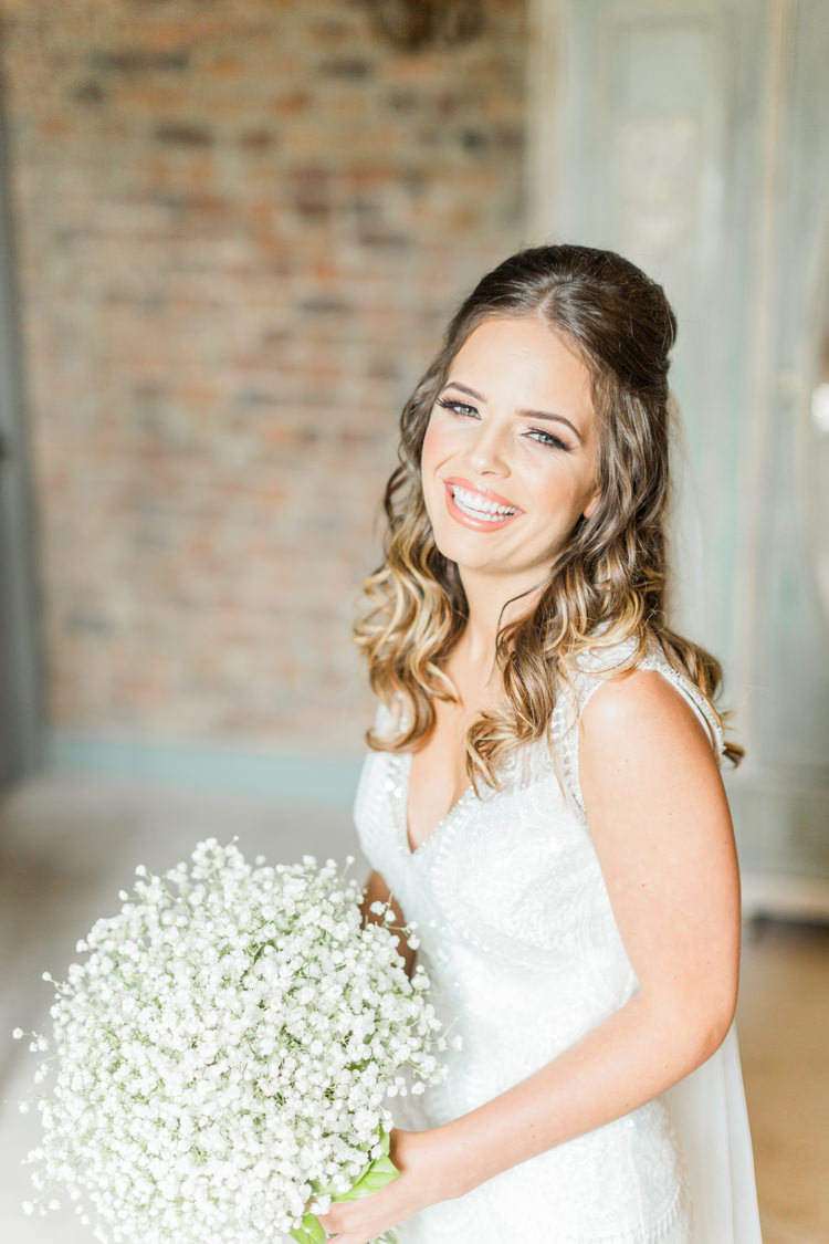 Bride Bridal Make Up Hair Style Simple Elegant Luxe Blush Pink Wedding http://katymelling.com/