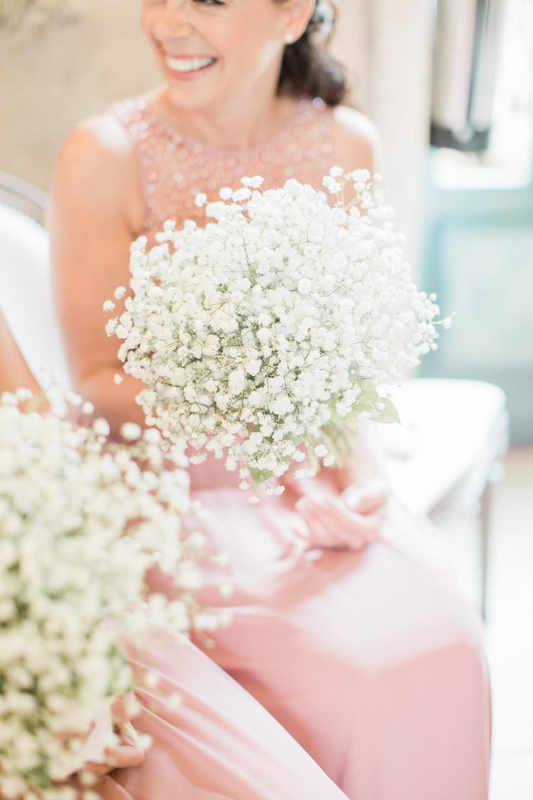 Gyp Gypsophila Bouquets Flowers Bridesmaid Simple Elegant Luxe Blush Pink Wedding http://katymelling.com/