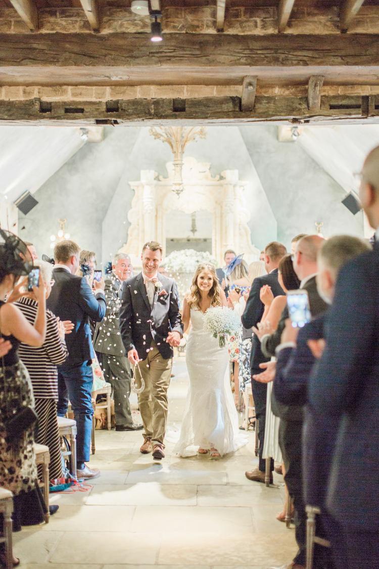 Confetti Throw Aisle Simple Elegant Luxe Blush Pink Wedding http://katymelling.com/