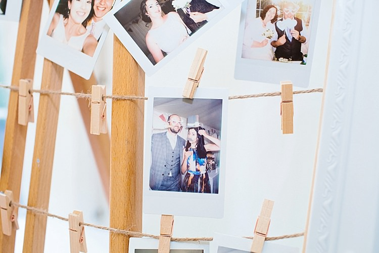 Polaroid Guest Book Photograph Easel Peg Twine Photo Booth Grey Lavender Blush Country Restaurant Wedding http://www.whelanphotography.co.uk/
