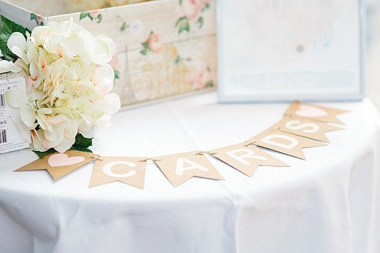 Cards Table Paper Bunting Floral Box Grey Lavender Blush Country Restaurant Wedding http://www.whelanphotography.co.uk/