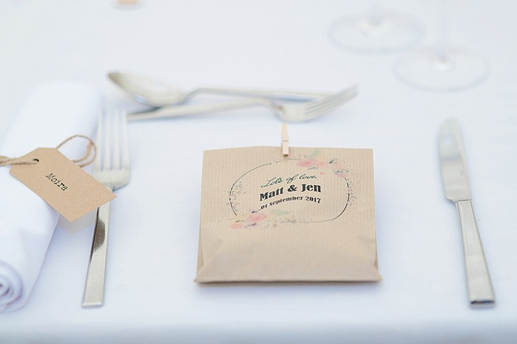 Favours Goody Bag Place Setting Luggage Tag Twine Place Cards Grey Lavender Blush Country Restaurant Wedding http://www.whelanphotography.co.uk/