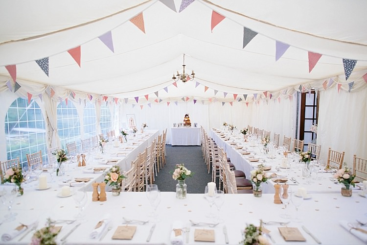 Marquee Bunting Pink Purple Horseshoe Banqueting Grey Lavender Blush Country Restaurant Wedding http://www.whelanphotography.co.uk/