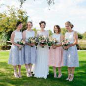 Grey Lavender & Blush Country Restaurant Wedding