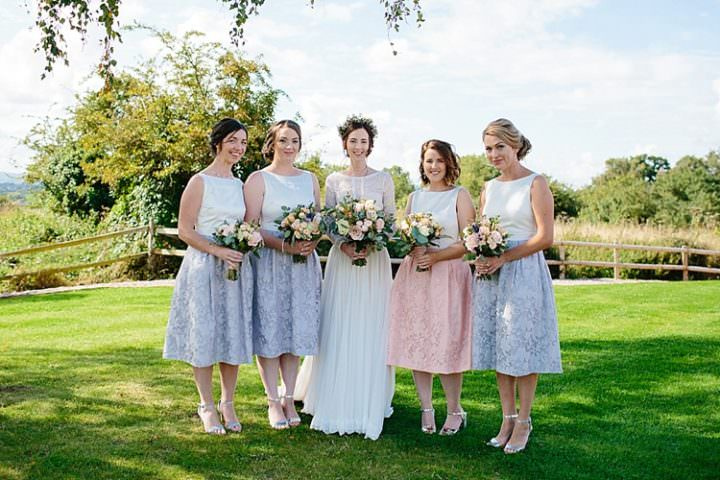Grey Lavender Amp Blush Country Restaurant Wedding