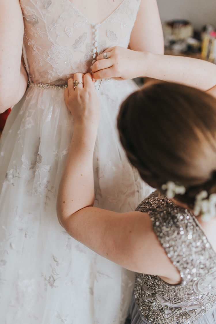 Lace Dress Gown Bride Bridal Button Back Incredibly Pretty Thoughtful Tipi Wedding http://katewatersphotography.com/