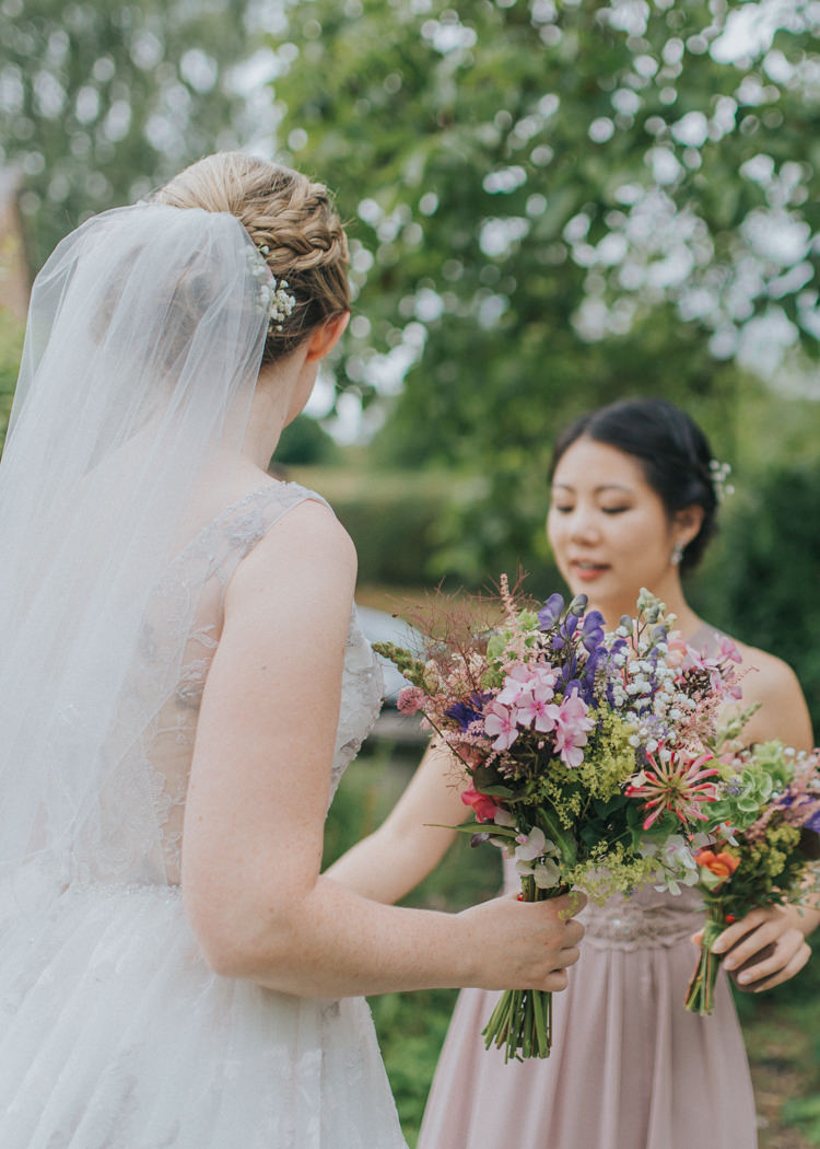 Wild Flower Bouquet Natural Summer Bride Bridal Incredibly Pretty Thoughtful Tipi Wedding http://katewatersphotography.com/