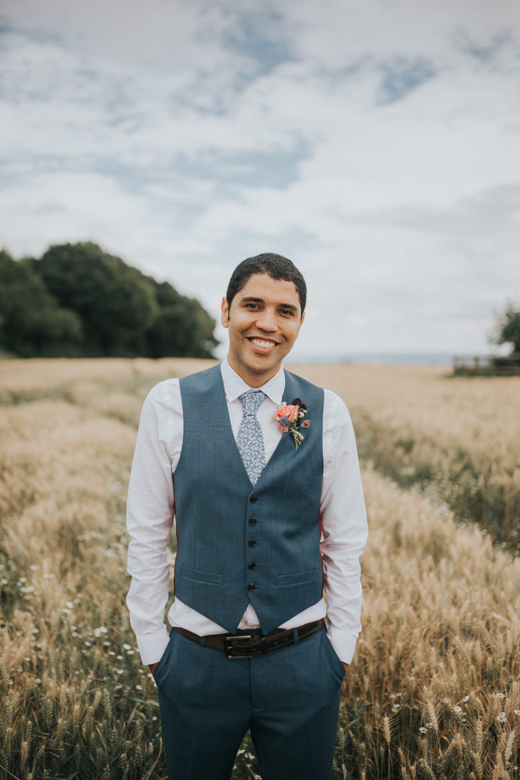 Waistcoat Floral Tie Groom Style Incredibly Pretty Thoughtful Tipi Wedding http://katewatersphotography.com/