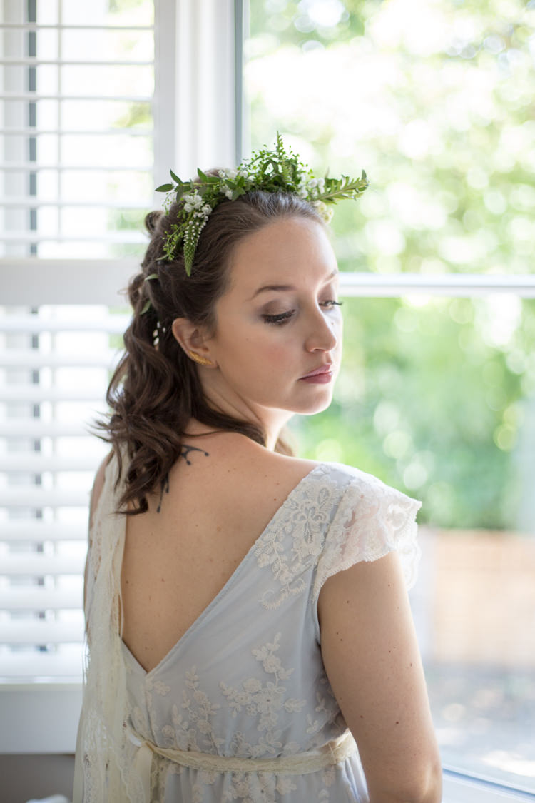 ASOS Bridesmaid Greenery Foliage Hair Natural Outdoor Tipi Wedding https://www.ad-photography.co.uk/