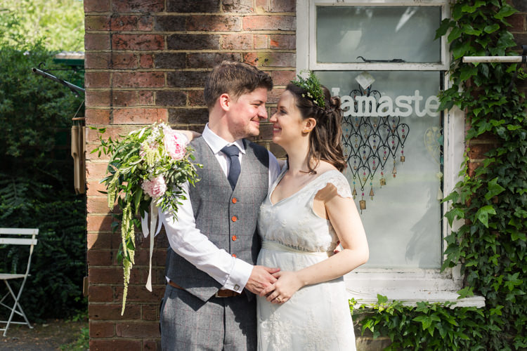 Bespoke Bride This Modern Love Bridal Greenery Foliage Hair Vintage Suit Groom Waistcoat Tweed Pocket Watch Chain Natural Outdoor Tipi Wedding https://www.ad-photography.co.uk/
