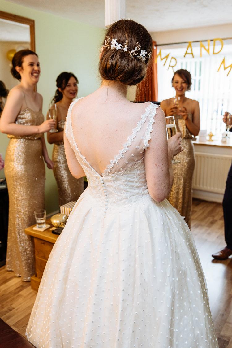 Bride Bridal V Back Ian Stuart Polka Dot Tulle Dress Gown Cute Summer Festival Tipi Wedding http://www.daffodilwaves.co.uk/