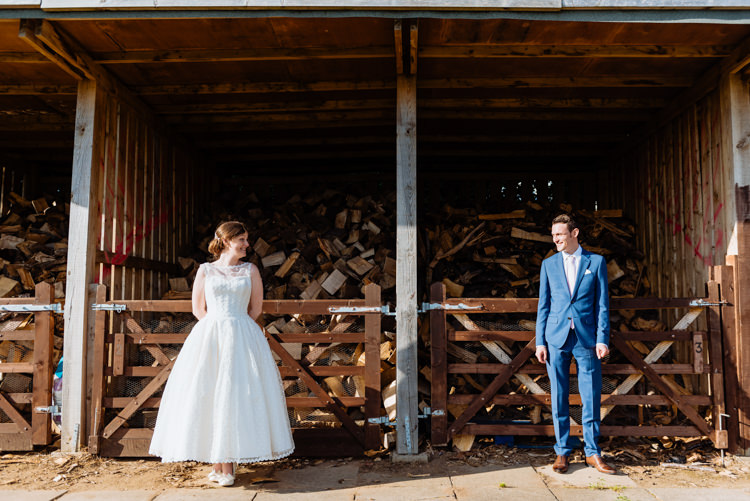 Bride Bridal V Back Ian Stuart Polka Dot Tulle Dress Gown Chignon Hair Piece Reiss Blue Airforce Groom Ballerina Length Cute Summer Festival Tipi Wedding http://www.daffodilwaves.co.uk/