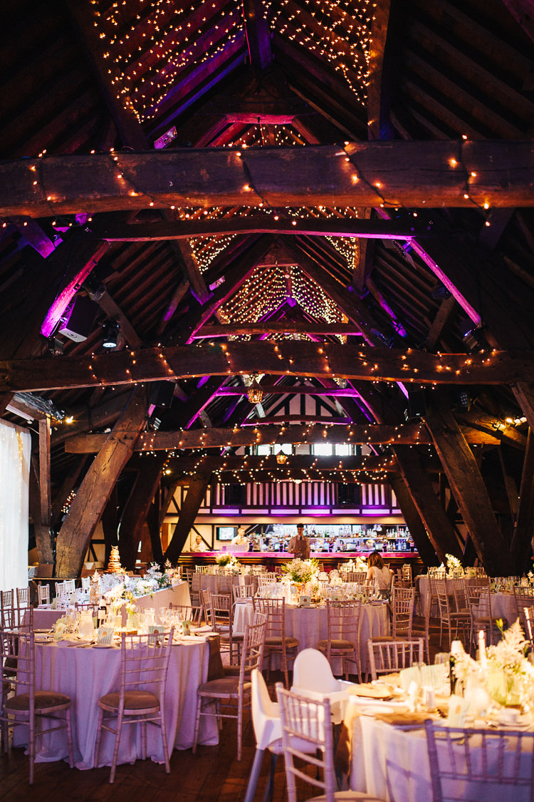 Fairy Lights Decor Exquisite Relaxed Rustic Barn Wedding http://www.emiliemay.com/