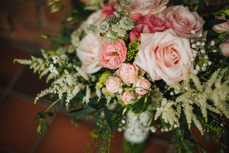 Pink Rose Astilbe Flowers Bouquet Bride Bridal Exquisite Relaxed Rustic Barn Wedding http://www.emiliemay.com/