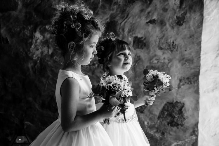 Flower Girls Boho Eucalyptus Green White Modern Wedding http://www.euanrobertsonweddings.com/