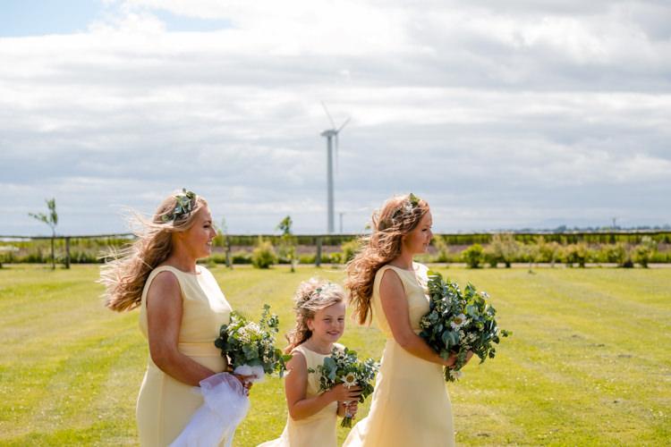 Yellow Bridesmaid Dresses Boho Eucalyptus Green White Modern Wedding http://www.euanrobertsonweddings.com/