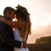 Boho Eucalyptus Green & White Modern Wedding