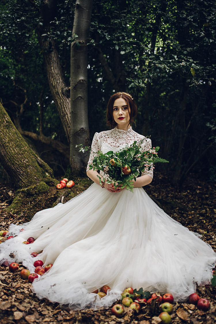 Magical snow white woodland wedding ideas whimsical wonderland tulle lace dress gown bride bridal magical snow white woodland wedding ideas https junglespirit Choice Image