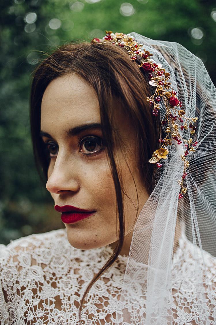 Floral Veil Flowers Bride Bridal Magical Snow White Woodland Wedding Ideas https://www.chloeleephoto.co.uk/