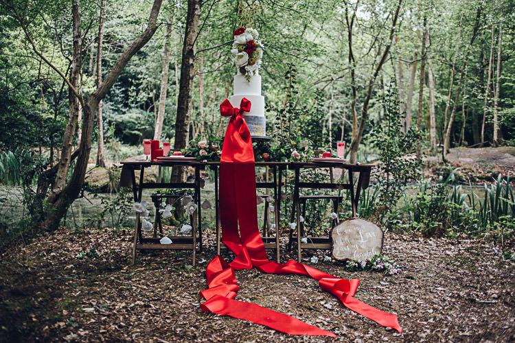 Cake Dessert Table Sweets Magical Snow White Woodland Wedding Ideas https://www.chloeleephoto.co.uk/