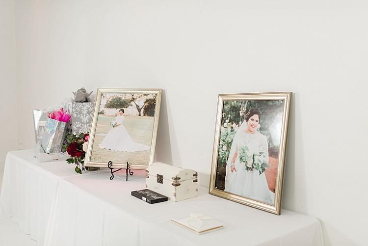 Card Gift Table Photos Modern Romantic Winter Wedding Texas http://www.albarosephotography.com/