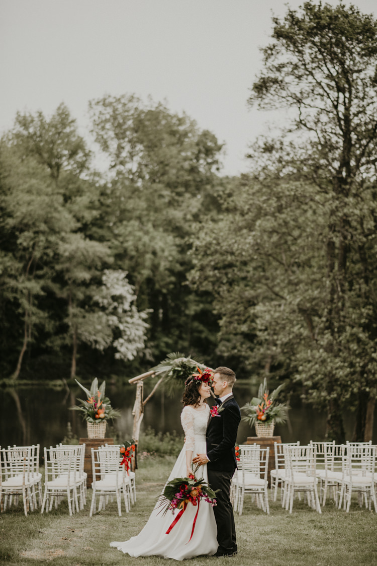 Outdoor Ceremony Arch Flowers Vibrant Tropical Wedding Ideas http://foto-memories.co.uk/
