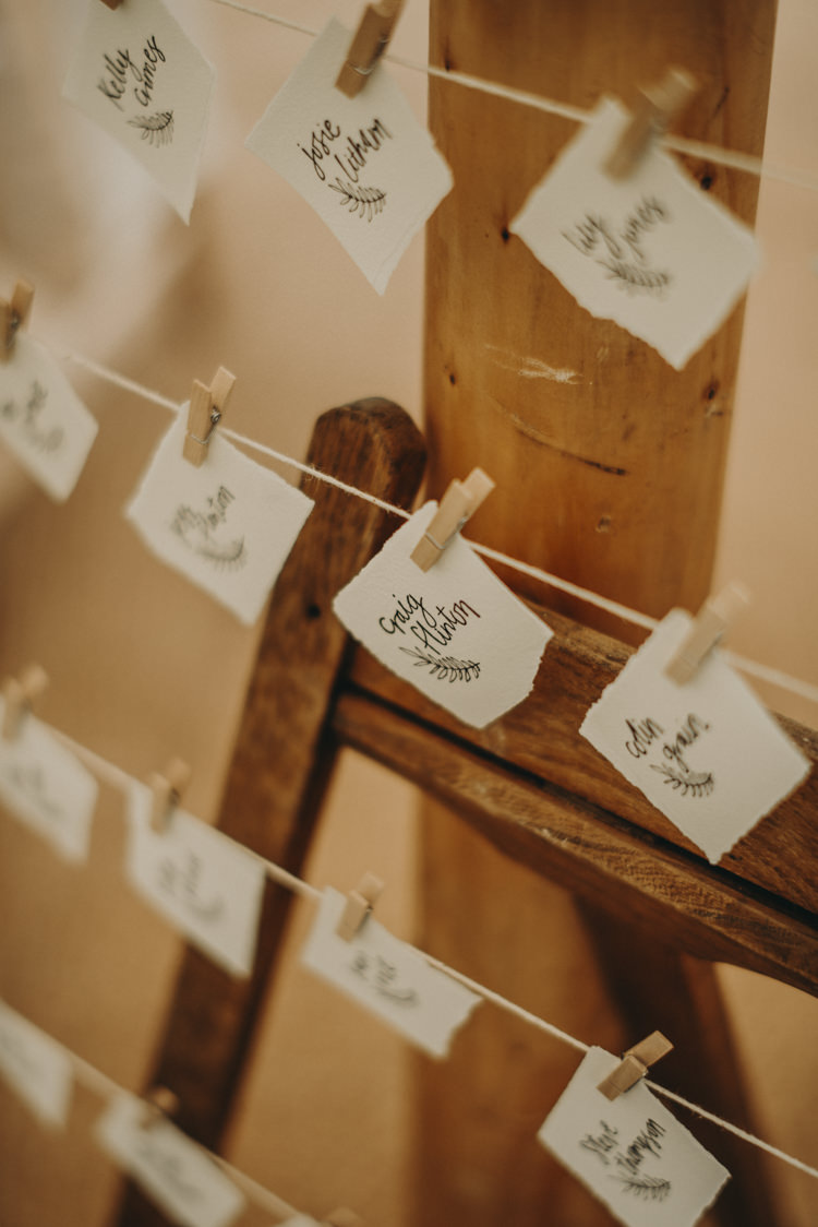 Peg Line Seating Plan Table Chart Vibrant Tropical Wedding Ideas http://foto-memories.co.uk/