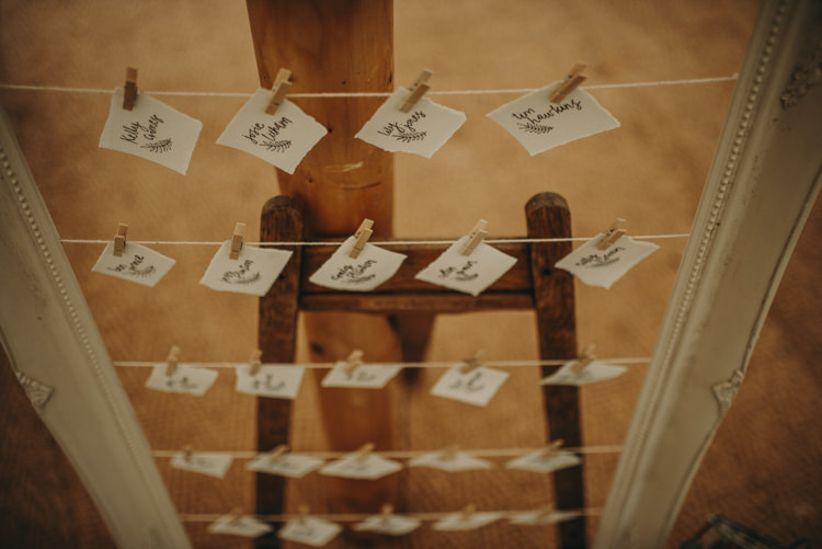 Peg Line Seating Plan Table Chart Vibrant Tropical Wedding Ideas http://foto-memories.co.uk/