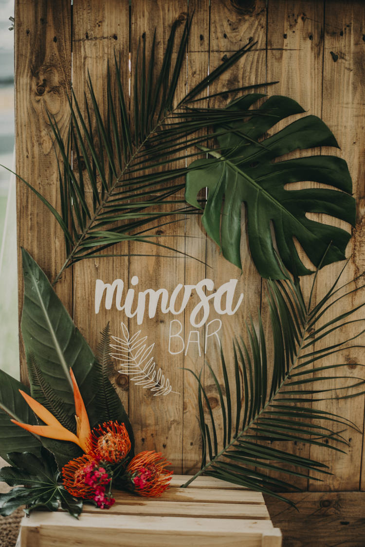 Sign Decor Calligraphy Vibrant Tropical Wedding Ideas http://foto-memories.co.uk/