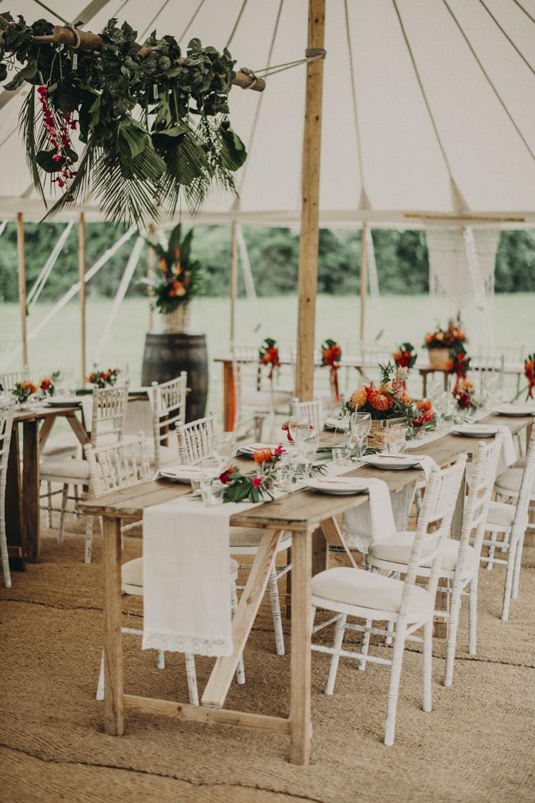 Pole Tent Marquee Decor Vibrant Tropical Wedding Ideas http://foto-memories.co.uk/