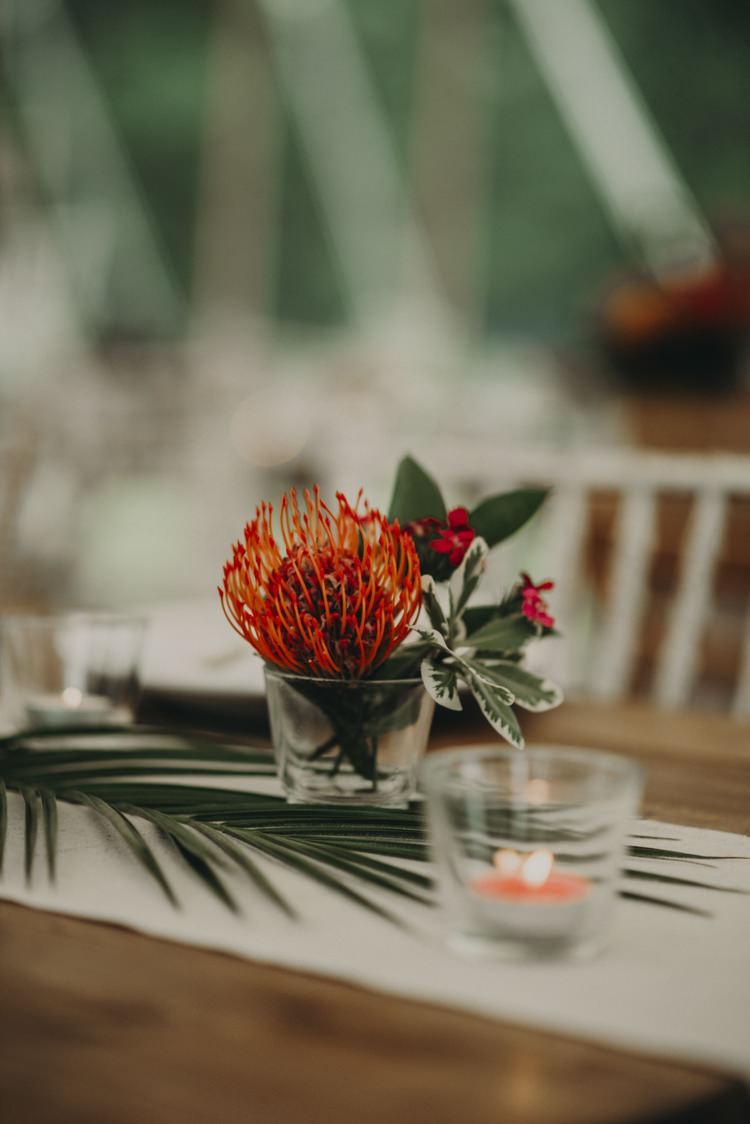 Flowers Decor Candles Vibrant Tropical Wedding Ideas http://foto-memories.co.uk/