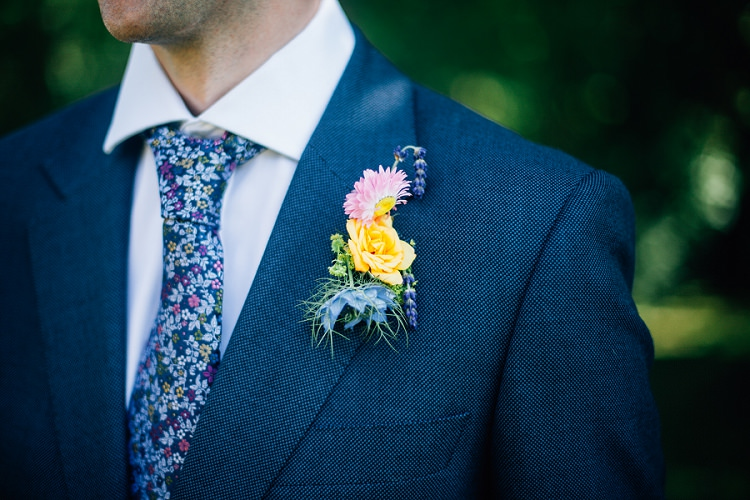 Buttonhole Groom Yellow Rose Eco Friendly Floral Filled Wedding http://kellyjphotography.co.uk/