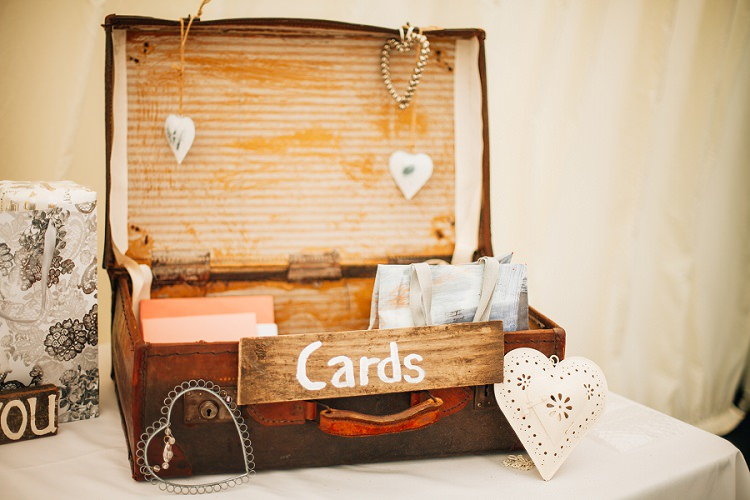 Card Suitcase Eco Friendly Floral Filled Wedding http://kellyjphotography.co.uk/