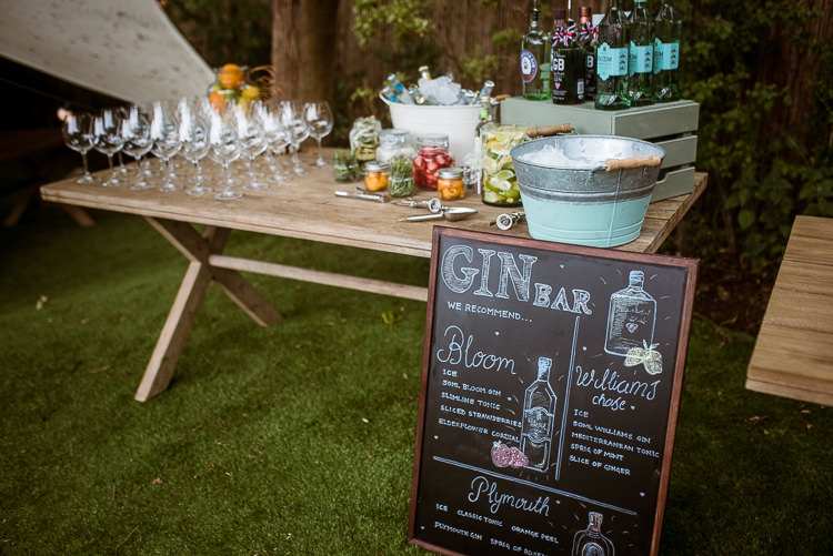 Gin Bar Drinks Laid Back Summer Garden Party Wedding Stretch Tent http://joemallenphotography.co.uk/