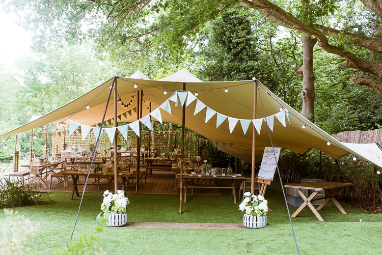 Festoon Lights Bunting Laid Back Summer Garden Party Wedding Stretch Tent //joemallenphotography ... & Laid Back Summer Garden Party Wedding in Stretch Tents | Whimsical ...