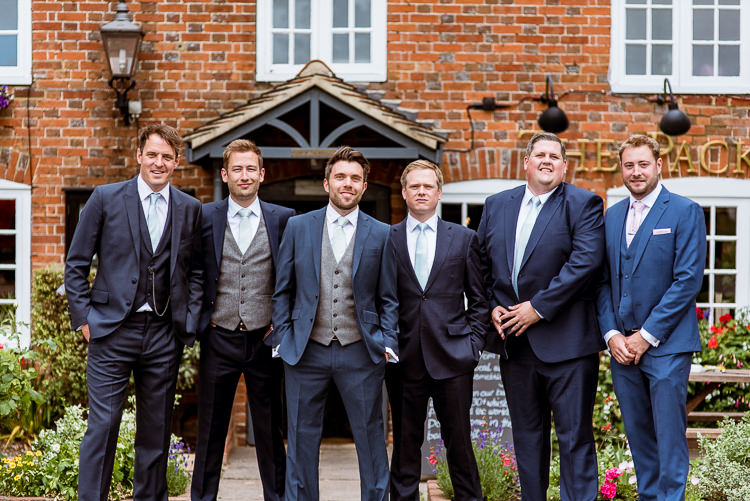 Navy Suits Groomsmen Laid Back Summer Garden Party Wedding Stretch Tent http://joemallenphotography.co.uk/